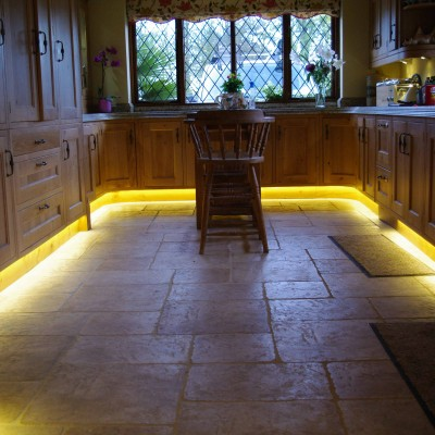 Kitchen with low level lights